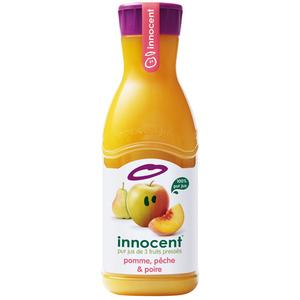 Innocent jus pomme, pêche & poire la bouteille de 900ml
