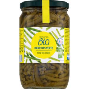 Monoprix Bio Haricots Verts Exytra-Fins Coupés 360g