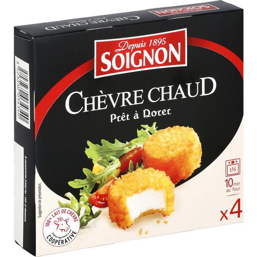 Soignon Chèvre Chaud prêt à dorer 4x25g