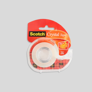 Scotch Ruban adhésif Crystal 25m + 5 m gratuit + dévidoir
