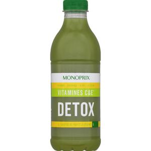 Monoprix Jus Detox vitamines C&E pomme, ananas, kiwi, citron 1L