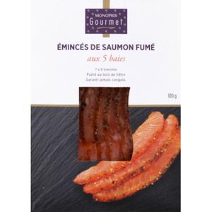 Monoprix Gourmet emincés saumon fumé 100g
