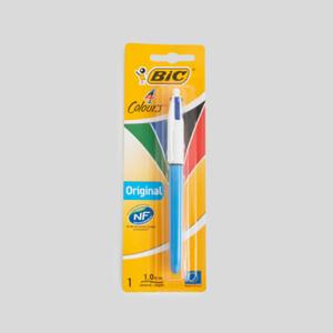 Bic Stylo 4 couleurs, pointes moyennes et rétractables