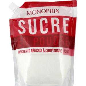 Monoprix Sucre Blanc en Poudre 750g