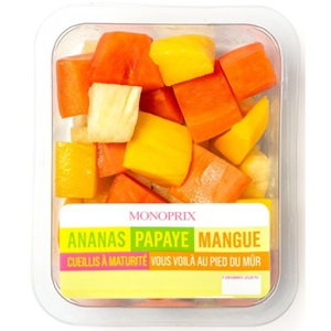 Monoprix ananas papaye mangue 350g