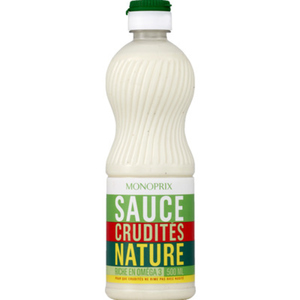 Monoprix Sauce crudités nature riche en oméga 3, 500ml