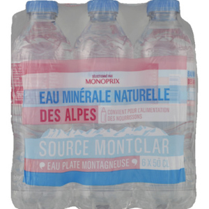 Monoprix Eau minérale des Alpes source Montclar 6x50cl