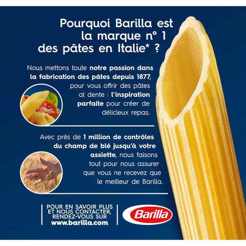 Barilla pâtes penne rigate boîte 1kg