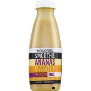 Monoprix Ananas, mangue et fruits de la passion, smoothie 50cl