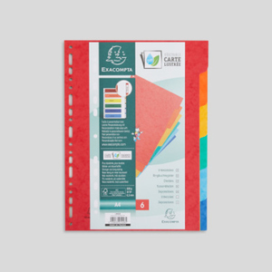 Exacompta 6 intercalaires en carton, format A4