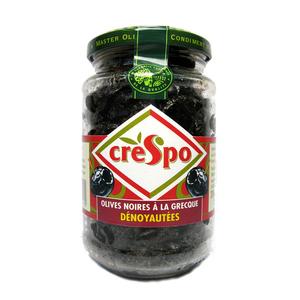 Crespo Olives noires à la grecque dénoyautées 200g